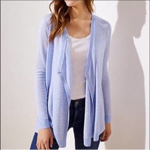 NWT loft open front striped cardigan size Large
